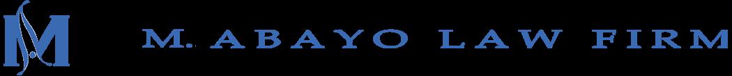 M. ABAYO LAW FIRM logo