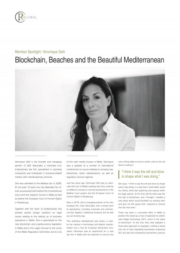 Member Spotlight: Veronique Dalli Blockchain, Beaches and the Beautiful Mediterranean
