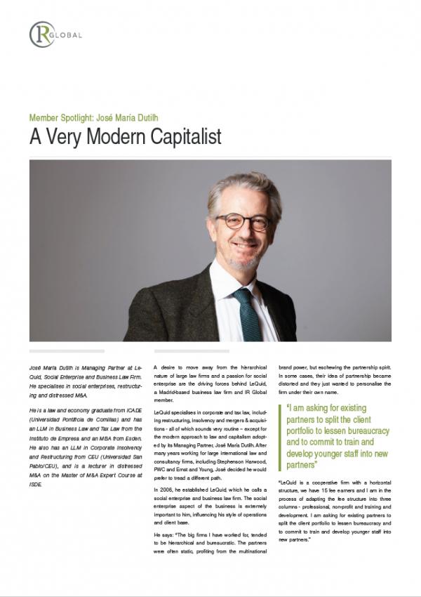 Member Spotlight: José Maria Dutilh, A Very Modern Capitalist