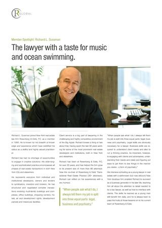 Richard Sussman Member Spotlight: The lawyer with a taste for music and ocean swimming