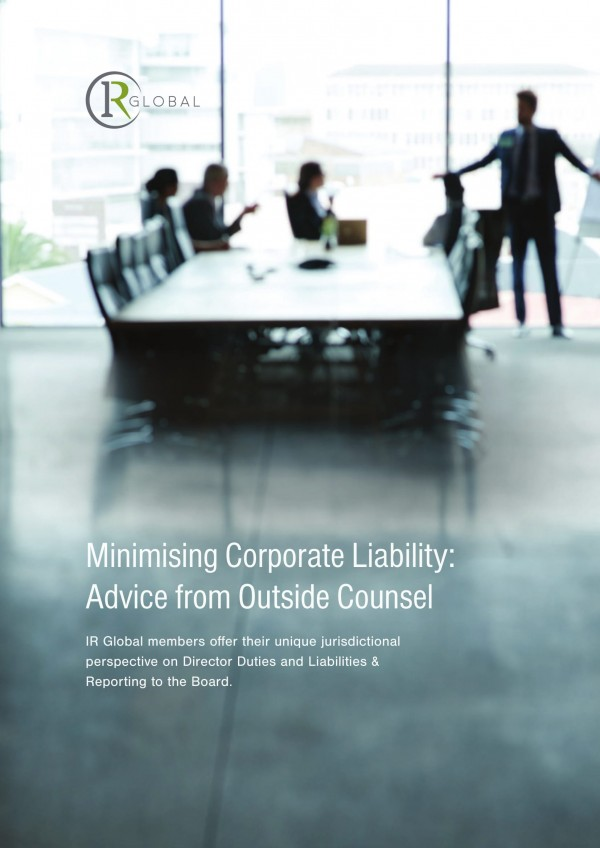 Minimising Corporate Liability: Advice from Outside Counsel