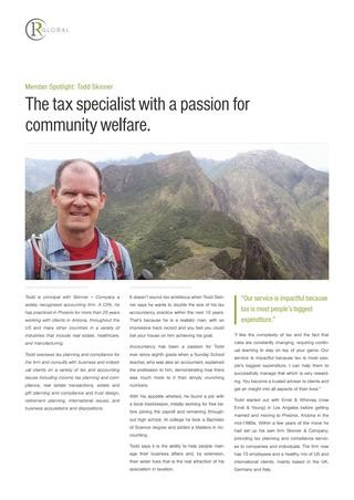 Todd Skinner Member Spotlight - The tax specialist with a passion for community welfare