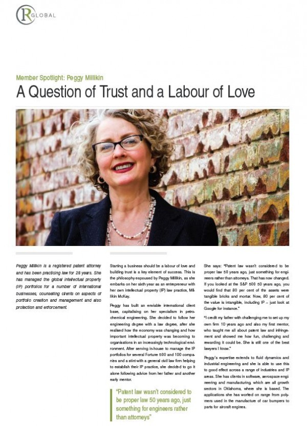 Member Spotlight: Peggy Millikin - A Question of Trust and a Labour of Love