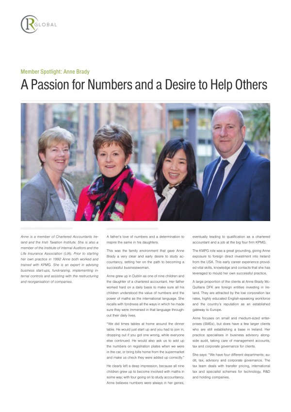 Member Spotlight: Anne Brady - A Passion for Numbers and a Desire to Help Others