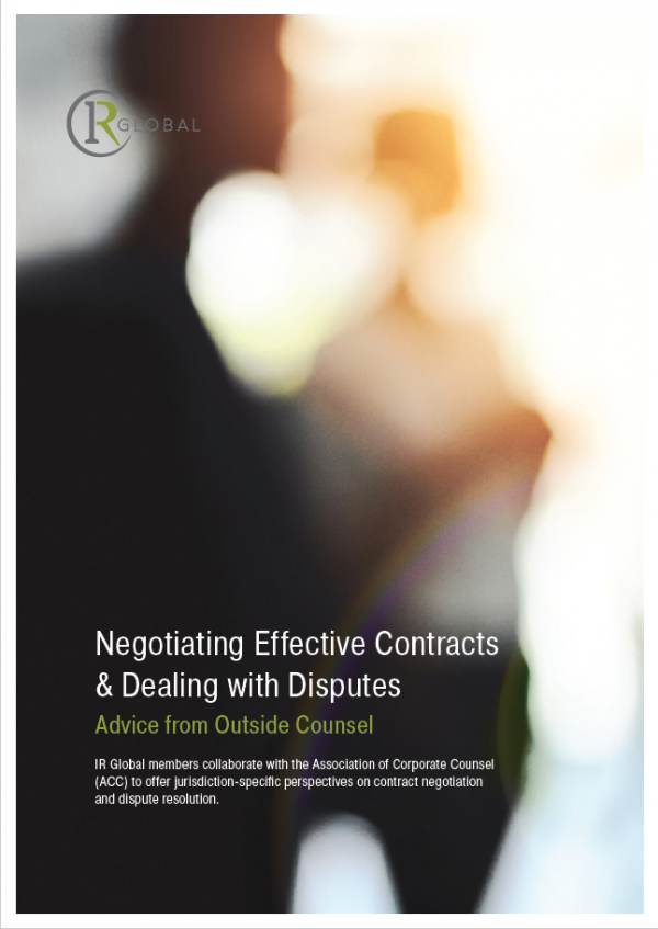 Negotiating Effective Contracts & Dealing with Disputes: Advice from Outside Counsel