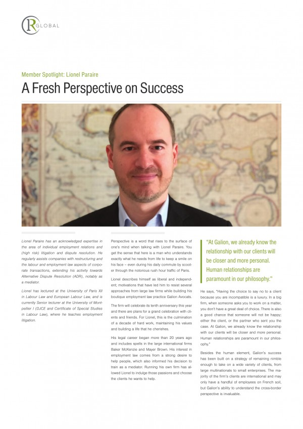 Member Spotlight: Lionel Paraire - A Fresh Perspective on Success