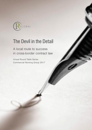 The Devil in the Detail: A local route to success in cross-border contract law