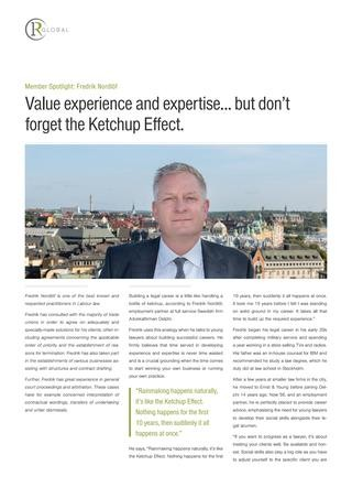 Fredrik Nordlöf Member Spotlight: Value experience and expertise but don't forget the ketchup effect
