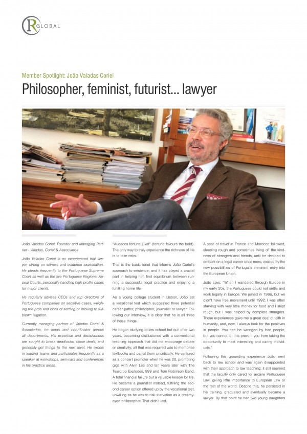 João Valadas Coriel Member Spotlight: Philosopher, feminist, futurist... lawyer