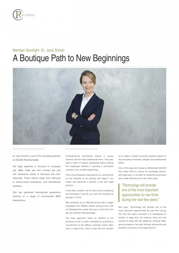 Member Spotlight: Dr. Jana Schott A Boutique Path to New Beginnings